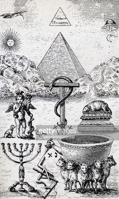 """Simón el Mago decía: """"Existen dos Vástagos de toda seriedad: El uno viene de arriba, de Urania, y es masculino; el otro asciende y es femenino. En la unión de estos dos Vástagos, está la clave de todo Poder""""... Observen ustedes al signo de la SANTA CRUZ: dos palos cruzados. El uno, es vertical y representa al Principio Masculino; el otro, es horizontal y representa al Sexo Femenino. En el cruce de ambos, se halla la clave de la Redención..."""