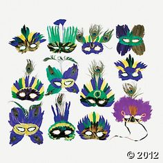 Deluxe Mardi Gras Feather Masks, when in NOLA, right?