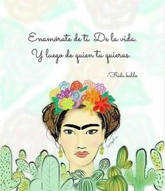 Frases de motivación Frida Quotes, Me Quotes, Hello Kitty Wallpaper, Building For Kids, Happy Puppy, Book Projects, Spanish Quotes, Shih Tzu Mix, Wise Words