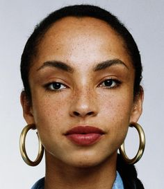 Sade's (Helen Folasade Adu) beautiful freckled face portrait photography #headshot T: SadeOfficial