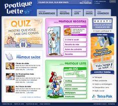 Site Pratique Leite-Tetra Pak by Flex Up #site #cms #sitedinamico #flexup #siteilustrativo