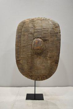 African Bantu Shield Woven Wood Congo