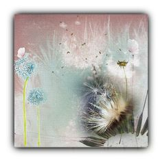 """Favourite Flower- The Common Dandelion"" by no-where-girl ❤ liked on Polyvore featuring art"