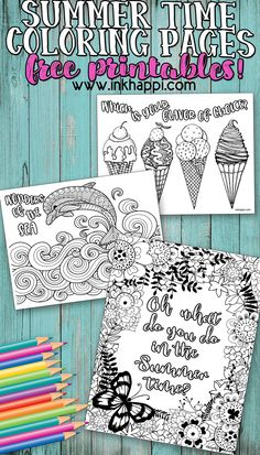 Summertime Coloring Pages to help beat summer boredom! is part of Coloring pages - Hey there! How's your summer It's time for another set of free coloring pages and I hope you like these Summertime Coloring Pages! Summer Coloring Pages, Easy Coloring Pages, Free Printable Coloring Pages, Coloring For Kids, Free Printables, Coloring Sheets, Summer Colors, Summer Fun, Summer Boredom