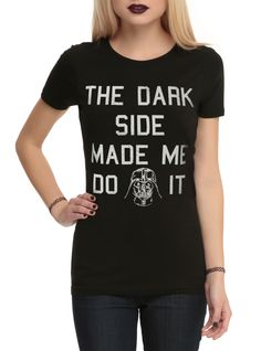 Hot Topic - The Dark Side Made Me Do It t-shirt