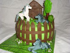 cake horses dort s koníky