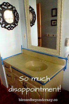 Bath Room Pink Diy Vanity Counter Tops 69 New Ideas Diy Vanity, Bathroom Vanity Makeover, Bathroom Vanities, Vanity Ideas, Blue Bathroom Vanity, Mirror Ideas, Bathroom Vanity Lighting, Countertop Makeover, Vanity Countertop