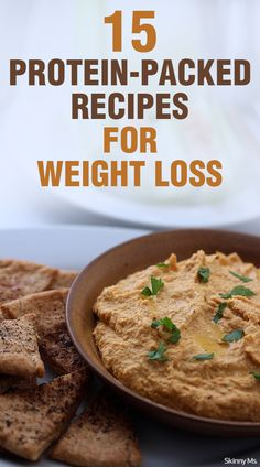 Protein is an important element on the path to losing fat, building muscle, and feeling great! Try these 15 Protein-Packed Recipes for Weight Loss. #fitness #recipes