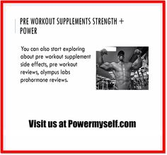 Visit Visit http://www.powermyself.com/rich-piana-5-nutrition-alldayyoumay.html and http://www.powermyself.com/type/pre-workout We are a fitness conscious society, and body building suits in properly with pre workout supplements. People consider the sport of physique building with pre workout supplements for all sorts of reasons, but health might be the most important certainly