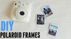 DIY: tumblr Polaroid Frames (no polaroid needed) ♡ - YouTube