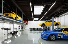 Japanese firm Torafu Architects renovated this auto repair shop in Tokyo to make it look as sleek as a car showroom.