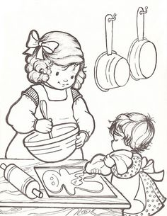coloring pages of baking - photo#33