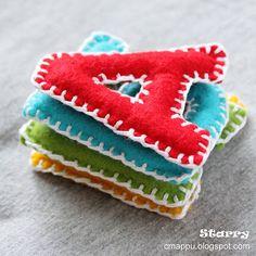 Starry... девушка творческая: Как сделать буквы из фетра [мастер-класс]