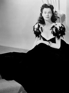 Vivien Leigh posing in a dress designed by Walter Plunkett for the Junior League Ball in Atlanta, 1939.