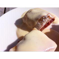 Rhubarb strudel