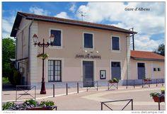 Gare D´Albens , Savoie - Une Photo Reproduite Carte Postale - Gares - Sans…