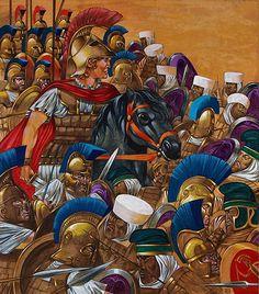 """La Pintura y la Guerra """"Alexander the Great"""" Richard Hook"""