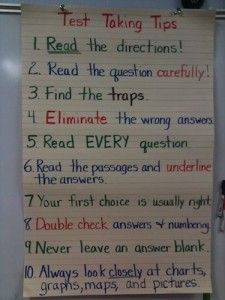 A list based on a class discussion is a good visual reminder.
