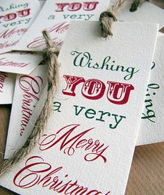 Christmas gift tag, card, bookmark.
