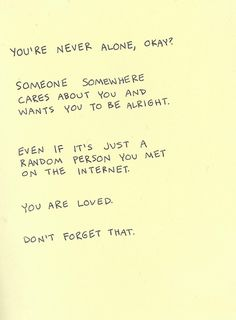 This is such an important message. Never forget it. #recovery #support #someonecares #depression