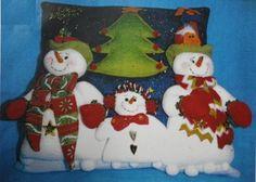 Cojin Muñecos de Nieve mono de nieve