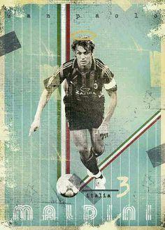 Paolo Maldini of AC Milan in 1994.