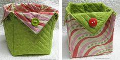 Fabric Baskets Tutorial - DIY projects for quilters and crafters - easy to make. Perfect for beautiful quilted gifts. Scrap Fabric Projects, Small Sewing Projects, Sewing Projects For Beginners, Diy Projects, Bag Patterns To Sew, Quilt Patterns Free, Sewing Patterns, Owl Fabric, Fabric Scraps