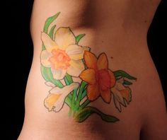 Fabric Daffodils Tattoos No Hope Fear Tattoo Online For A Pictures Daffodil Flower Tattoos, Flower Tattoo Designs, Fear Tattoo, Back Tattoo, Tattoos For Guys, Tattoos For Women, Irezumi Tattoos, Amazing Flowers, Daffodils