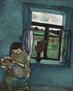 Marc Chagall, Bella et Ida à la fenêtre on ArtStack #marc-chagall #art