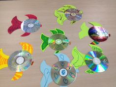 This idea is originally from the Maui Library. If you don't have a cd, cut a circle out of paperboard. We make these in our Ocean Pollution program to show students you can make art and recycle at the same time.