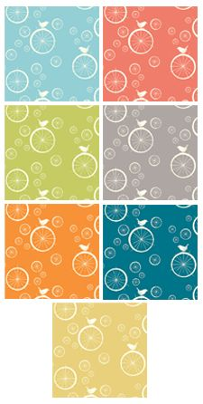 Spokes Family, Mod Basics Collection by Birch Organic Fabric (Jan 2012)