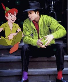 Michael - the real Peter Pan ;).... I love how his socks are different colors, he's so cute!