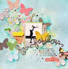 #papercrafting #scrapbook #layout - FABULOUS FLIER scrapbook layout by Missy Whidden