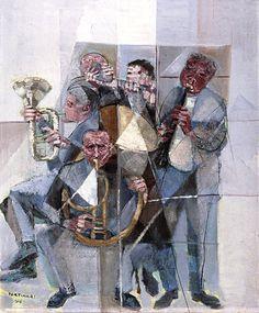 Banda de música, 1956 Cândido Portinari ( Brasil, 1903-1962) óleo sobre tela Coleção Particular, São Paulo