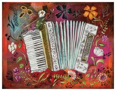 Accordian Love 10 x 8 Print  by Heather by heatherrenaux on Etsy