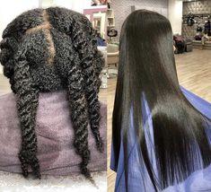 Silk Press on hair Pressed Natural Hair, Long Natural Hair, Long Relaxed Hair, Relaxed Hair Journey, Trendy Hairstyles, Wig Hairstyles, Straight Hairstyles, Frontal Hairstyles, Hairstyle Ideas