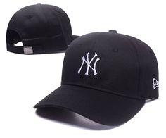d0193ab54911e Men s   Women s New York Yankees New Era Basic Team Logo Embroidery  Adjustable Baseball Hat - Black   White