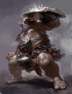 The monster, Fenghua  Zhong on ArtStation at https://www.artstation.com/artwork/the-monster