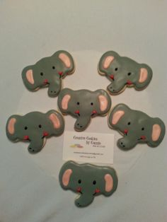 Located in near The Woodlands Tx. Custom decorated individually designed cookies. ELEPHANTS To Order Email:creativecookiesbyconnie@gmail.com