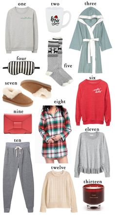 A little inspiration for a few comfy and chic christmas gifts