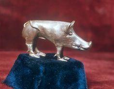 Scythian gold figurine of a wild boar. 4th century B.C. The item was found in Homina Tomb Barrow in Dnepropetrovskaya region.