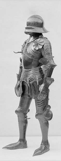 Gothic Armor, late 15th century; extensively restored and completed ca. 1926. German and Italian. The Metropolitan Museum of Art, New York. Bashford Dean Memorial Collection, Bequest of Bashford Dean, 1928 (29.150.8a–q) | In this work, Dean's goal was to create a late German Gothic armor, a type often considered the pinnacle of armor-making. Complete and homogeneous examples were nonexistent on the art market by Dean's time.