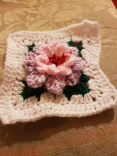 Double flower granny square