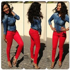 58 Trendy How To Wear Red Pants Casual Heels Source by Outfits jeans Red Jeans Outfit, Casual Heels Outfit, Heels Outfits, Red Pants, Jean Outfits, Classy Outfits, Fall Outfits, Casual Dresses, Casual Outfits