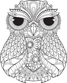 Lana Owl - Colour with Me HELLO ANGEL - coloring, design, detailed, meditation, coloring for grown ups, owl, cute colouring for kids