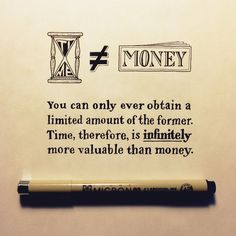 Time not money