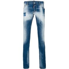 Dsquared2 faded Long Clement jeans (6.376.925 IDR) ❤ liked on Polyvore featuring men's fashion, men's clothing, men's jeans, blue, mens faded jeans, mens long rise jeans, mens ripped jeans, mens torn jeans and mens distressed jeans