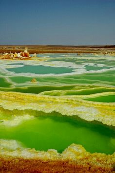Acid Garden Dallol Acid Garden, Ethiopia - considered to be one of the two hottest places in the world (other being Death Valley).Dallol Acid Garden, Ethiopia - considered to be one of the two hottest places in the world (other being Death Valley). Places Around The World, Around The Worlds, Africa Travel, Ethiopia Travel, Natural Wonders, Solo Travel, Amazing Nature, Science Nature, Wonders Of The World