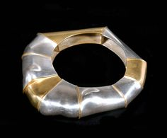 Bracelet | Alma Eikerman. Sterling silver and red brass.  ca. 1980