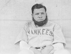Babe Ruth donned a fake beard when the House of David visited in 1931.